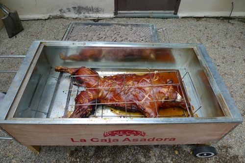 China Box Cooker ~ La caja china style roast pig cajun microwave roaster