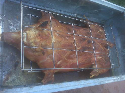 Caja china style hog roasting tips